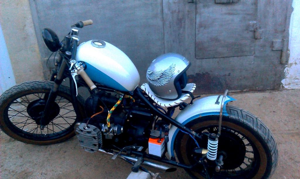 Как покрасить мотоцикл днепр своими руками 66